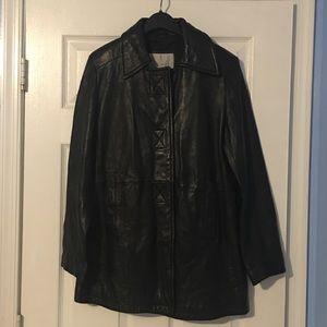 Nine West leather Jacket 🧥 Size M